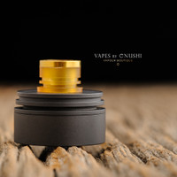 "Hussar Vapes - ""Inverted Torpedo Cap for Hussar RTA and Project X, Black"""