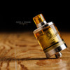 "Steam Tuners - ""Ultem Replacement Tank for Kayfun [Lite] 2019 Top Fill Kit (22mm)"" shown attached to Top Fill Kit components, Kayfun Lite base, and T7 Ultem drip tip for demonstration purposes only. This sales listing is ONLY for the Ultem Tank upgrade section."