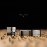 """Play Inc. - """"Play Gen 5 Mid Profile Beauty Ring and Drip Tip Set, Gun Metal Colour"""""""