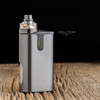 """Play Inc. - """"Play Gen 5 Gun Metal Mid Profile Beauty Ring and Drip Tip Set"""" shown attached to full setup for demonstration purposes only. This sale is only for the drip tip and beauty ring set."""