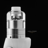 Bell Vape by Chris Mun - Bell Cap for 22mm Kayfun Lite 2019 /2021 by SvoëMesto shown attached to atomizer base, mod, and with drip tip for demonstration purposes only. None of these extra items are included in this sale. This listing is only for the Bell Cap.