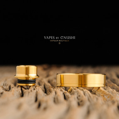 """Play Inc. - """"Play Gen 5 Mid Profile Beauty Ring and Drip Tip Set, Gold Colour"""""""