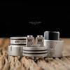 "Vapetalk Concepts Philippines - ""Loki V2"" RDA, Sandblasted Grey / matte SS"