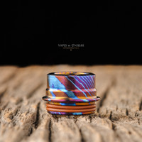 Form Custom - Armor RDA Low Profile Widebore Drip Tip, AKS Timascus