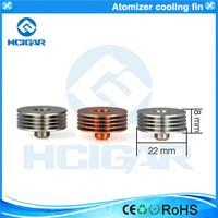 HCigar Atomizer Cooling Fin 510 Heatsink, brass, copper, aluminum, stainless steel