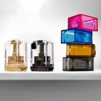 """Atmizoo - """"VapeSnail, Gold and Midnight Black"""" Rebuildable Tank for Boro Mods (Billet Box) with optional purchase coloured tank kits."""