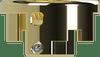 Armor Mods - Medium 1.8x2.2mm Air Flow Insert for Armor Engine RDA, Polished Gold