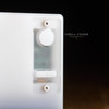 Delro Button Set for d60e, Blanco shown with Blanco D60e and Frosted Panel Set