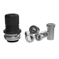 MISSION XV - MISSION Tips - Integrated Hybrid Teflon Drip Tip for Billet Box Rev 4, Quantum Style, Black Speckle