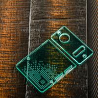 Delro Door & Button Plate Set, 2-Slot, Aqua