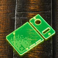 Delro Door & Button Plate Set, 2-Slot, Toxic (Fluorescent Green)