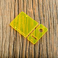 Delro Door & Button Plate Set, 2-Slot, Electric Yellow (Fluorescent)