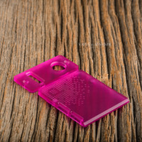 Delro Door & Button Plate Set, 2-Slot, Matte Magenta