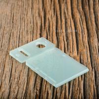 Delro Door & Button Plate Set, 2-Slot, Jade