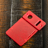 Delro Door & Button Plate Set, 2-Slot, Matte Red