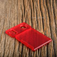 Delro Door & Button Plate Set, 2-Slot, Scarlet Haze