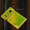 Delro Door & Button Plate Set, MTL, Electric Yellow