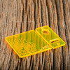 Delro Door & Button Plate Set, MTL, Electric Yellow (Fluorescent)