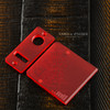 Delro Door & Button Plate Set, MTL, Matte Red