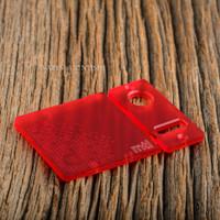 Delro Door & Button Plate Set, MTL, Scarlet Haze