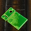 Delro Door & Button Plate Set, MTL, Toxic (Fluorescent Green)
