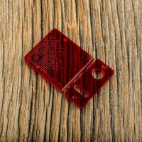 Delro Door & Button Plate Set, 2-Slot, Clearly Crimson