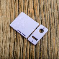 Delro Door & Button Plate Set, 2-Slot, Lavender