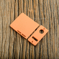 Delro Door & Button Plate Set, 2-Slot, Orange Creamsicle
