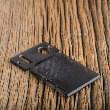 Delro Door & Button Plate Set, 2-Slot, Smokey Haze