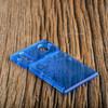 Delro Door & Button Plate Set, 2-Slot, Translucent Blue