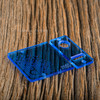 Delro Door & Button Plate Set, MTL, Clearly Blue