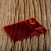 Delro Door & Button Plate Set, MTL, Clearly Crimson