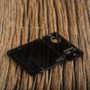 Delro Door & Button Plate Set, MTL, Smoked Gloss Black