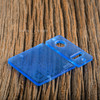Delro Door & Button Plate Set, MTL, Translucent Blue