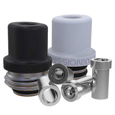 MISSION XV - MISSION Tips - Integrated Hybrid Teflon Drip Tip for Billet Box Rev 4, Whistle v2.1