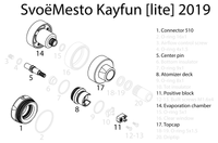 SvoëMesto - Kayfun [Lite] 2019 Spare Parts - A1 - 22mm 510 Base