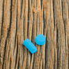 Delro Button Set for d60e (DNA60), Blue Glow Resin (Photoluminescent)