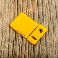 Delro Door & Button Plate Set, 2-Slot, Mango Slice