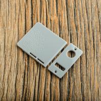 Delro Door & Button Plate Set, 2-Slot, Polished Concrete