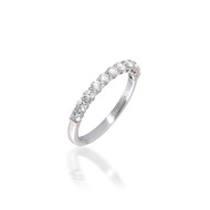 Classic 0.64ct Shared-prong Diamond Band
