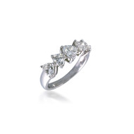 Classic Heart Diamond Five Stone Band