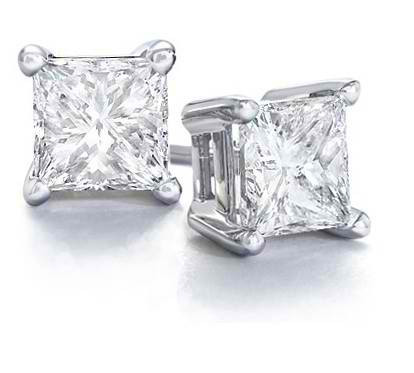 f03469c90f26a Create Your Own Princess Cut Diamond Stud Earrings