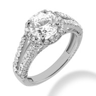 Lavish Custom Choice Pre-Set Diamond Engagement Ring
