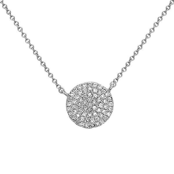 70f372930be13 Bassali Tiny Pavé Diamond Disc Pendant