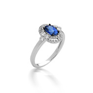 Bassali Persephone Sapphire and Diamond Ring