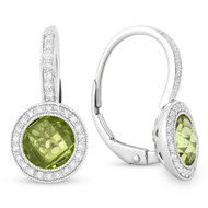 Madison L Peridot and Diamond Earrings
