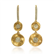 Madison L Nature Flows Disc Diamond Drop Earrings