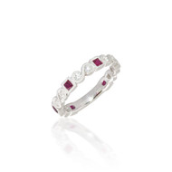 Madison L Shimmer and Shine Stackable Ruby and Diamond Ring