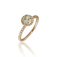 Diamond Halo Omega Engagement Ring