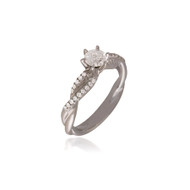 Diamond Engagement Ring with Twisted Band